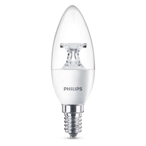 PHILIPS E14 5.5W 2700K 470lm náhrada 40W; LED svíčková žárovka B35 NonDim