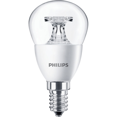 PHILIPS E14 5.5W 4000K 470lm náhrada 40W; LED kapková žárovka P45 cira