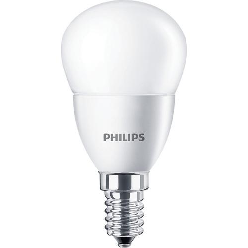 PHILIPS E14 5.5W 4000K 470lm náhrada 40W; LED kapková žárovka P45 opal