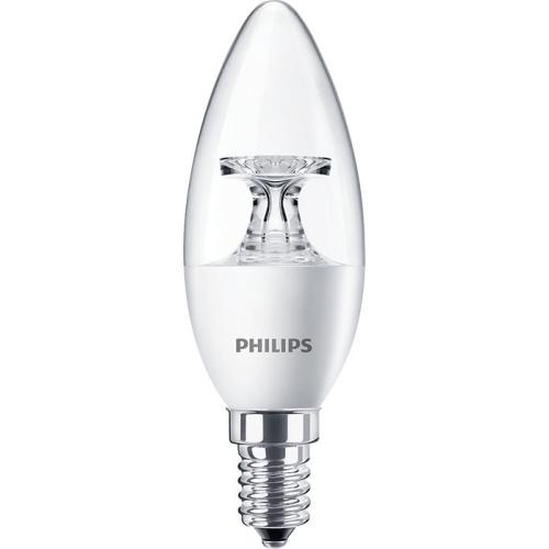 PHILIPS E14 5.5W 4000K 470lm náhrada 40W; LED žárovka svíčková čirá