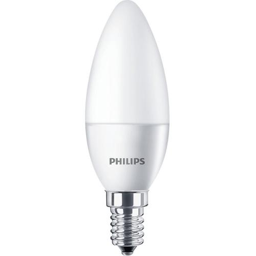 PHILIPS E14 5.5W 4000K 470lm náhrada 40W; LED žárovka svíčková opál
