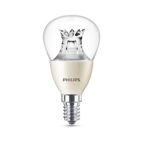 PHILIPS E14 6W 2200-2700K 470lm náhrada 40W; LED kapková žárovka P48 Dim