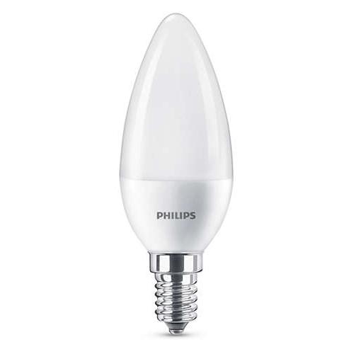 PHILIPS E14 7W 4000K 830lm náhrada 60W; LED žárovka svíčková opál