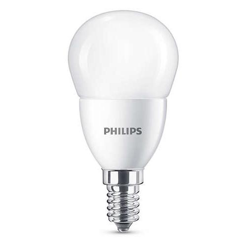 PHILIPS E14 7W 6500K 830lm náhrada 60W; LED kapková žárovka P48 opál