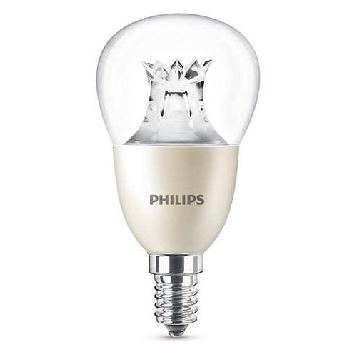 PHILIPS E14 8W 2200-2700K 806lm náhrada 60W; LED kapková žárovka P50 Dim