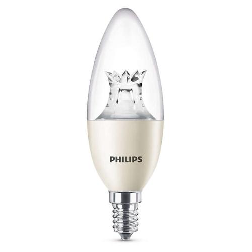 PHILIPS E14 8W 2200-2700K 806lm náhrada 60W; LED svíčková žárovka B40 Dim