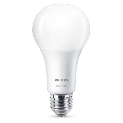 PHILIPS E27 14W 2700/2500/2200K 1521lm náhrada 100W; LED žárovka A67 NonDim
