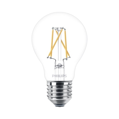 PHILIPS E27 5.5W 2200-2700K 470lm náhrada 40W; LED žárovka A60 Dim