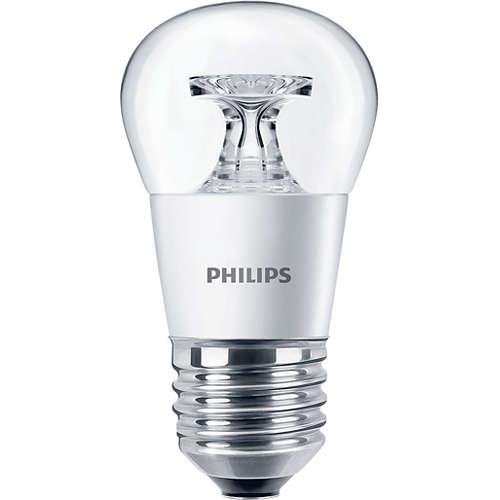 PHILIPS E27 5.5W 2700K 470lm náhrada 40W; LED kapková žárovka P45 cira