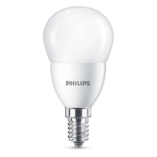 PHILIPS E27 7W 4000K 830lm náhrada 60W; LED kapková žárovka P48 opál