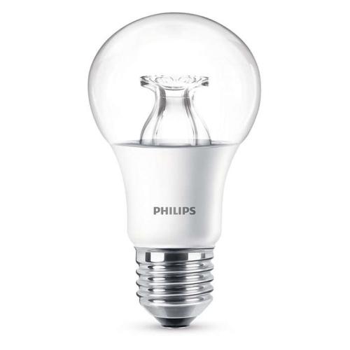 PHILIPS E27 8.5W 2200-2700K 806lm náhrada 60W; LED žárovka A60 Dim