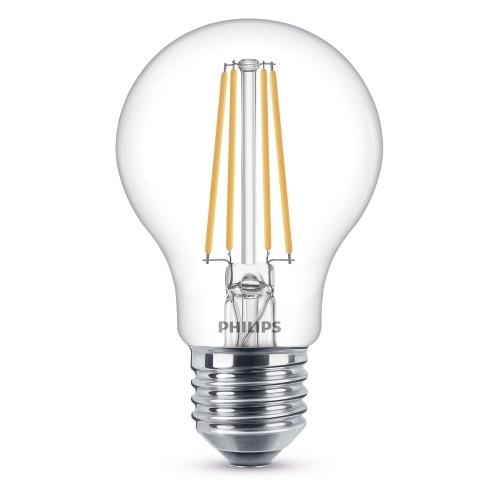 PHILIPS E27 8W 2700K 806lm náhrada 60W; LED žárovka A60 Dim