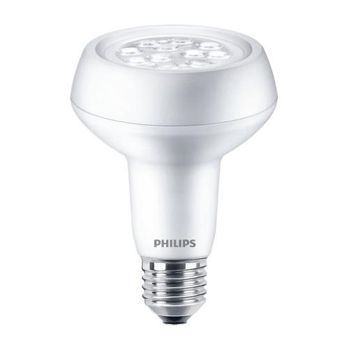 PHILIPS E27 R80 7W 2700K 667m/40° náhrada 100W LED žárovka-reflektor NonDim