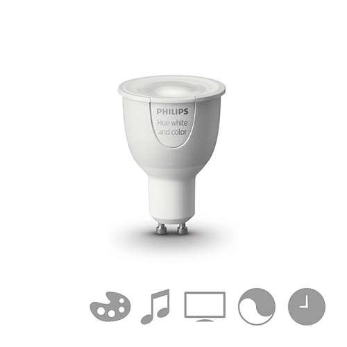 PHILIPS HUE LED reflektor PAR16 6.5W GU10 RGB 250lm Dim 25Y