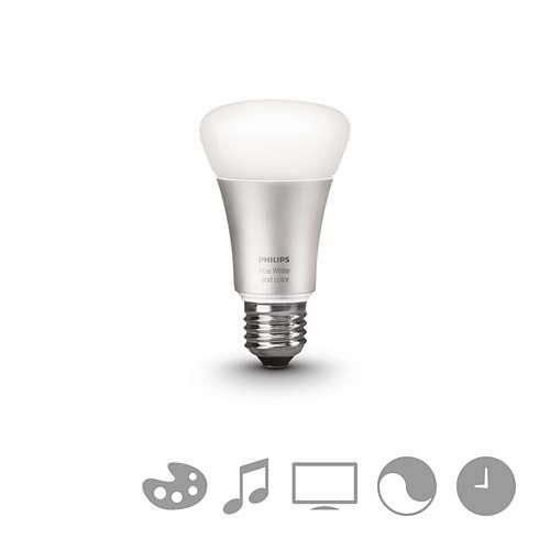 PHILIPS HUE LED žárovka A60 10/60W E27 RGB 806lm DIM 25Y