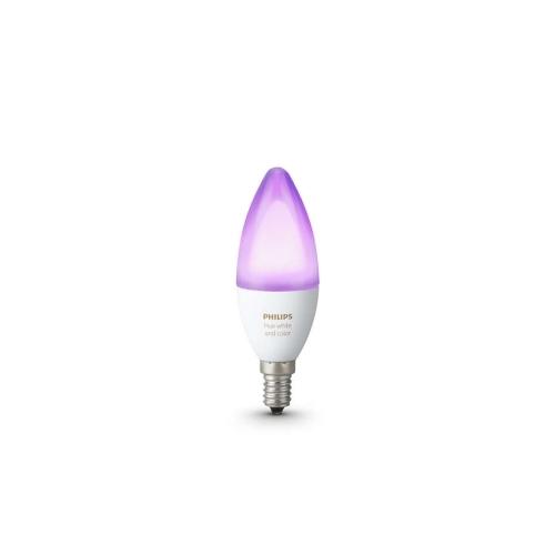 PHILIPS HUE LED žárovka B39 6.5W 2200-6500K/RGB Dim 25Y