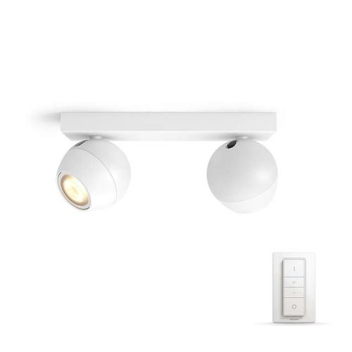 PHILIPS HUE přisazené svítidlo LED Buckram 2x5.5W GU10; bílá (50472/31/P7)