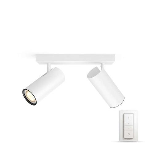 PHILIPS HUE přisazené svítidlo LED BURRATO 2x5,5W GU10; bílá + HUE přepínač