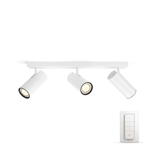 PHILIPS HUE přisazené svítidlo LED BURRATO 3x5,5W GU10; bílá + HUE přepínač