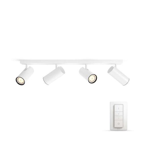 PHILIPS HUE přisazené svítidlo LED BURRATO 4x5,5W GU10; bílá + HUE přepínač