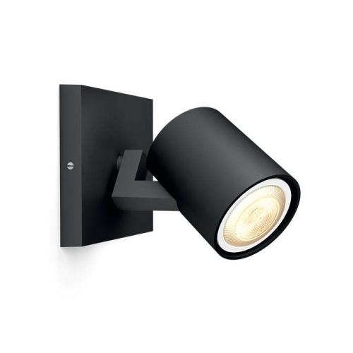 PHILIPS HUE přisazené svítidlo LED RUNNER 1x5,5W GU10; černá (53090/30/P8)