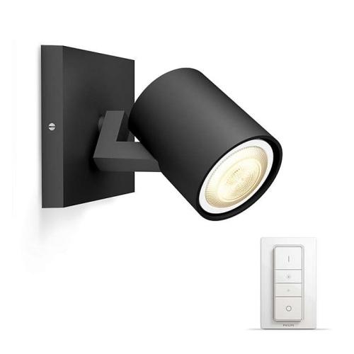PHILIPS HUE přisazené svítidlo LED RUNNER 1x5,5W GU10; černá + HUE přepínač