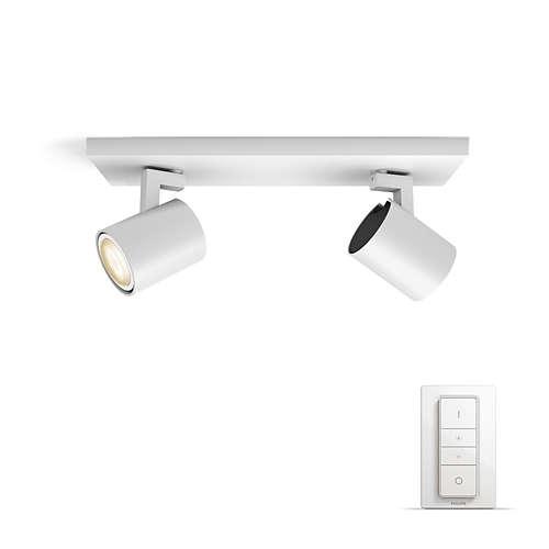 PHILIPS HUE přisazené svítidlo LED RUNNER 2x5,5W GU10; bílá + HUE přepínač