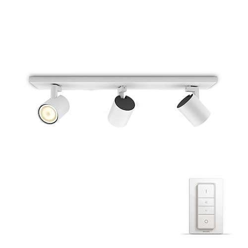 PHILIPS HUE přisazené svítidlo LED RUNNER 3x5,5W GU10; bílá + HUE přepínač