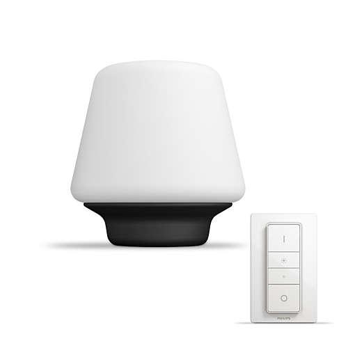 PHILIPS HUE stolní lampa LED Wellnes 1x9,5W; černá + HUE přepínač (40801/30/P7)
