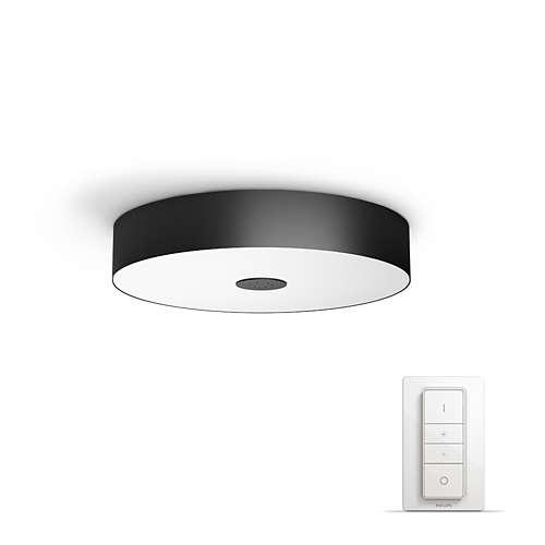 PHILIPS HUE stropní svítidlo LED FAIR 1x39W; čená + HUE přepínač (40340/30/P7)