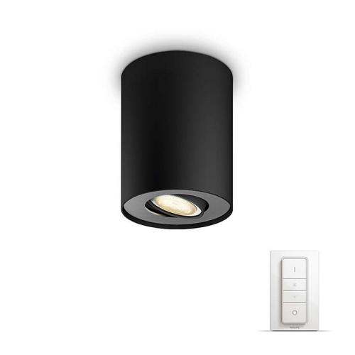PHILIPS HUE stropní svítidlo LED PILLAR 1x5,5W GU10; černá + HUE přepínač