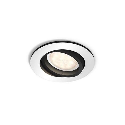 PHILIPS HUE vestavěné svítidlo LED MILLISKIN 1x5,5W GU10; hliník (50411/48/P8)