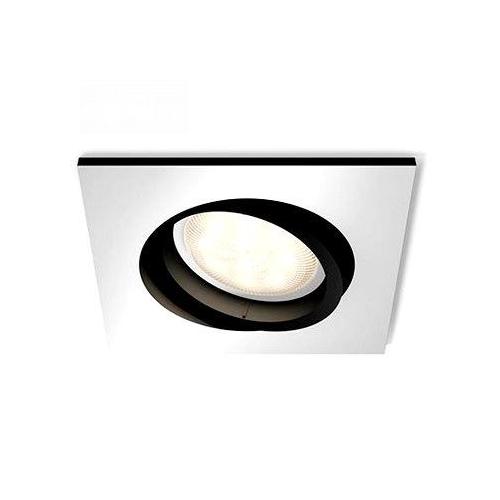 PHILIPS HUE vestavěné svítidlo LED MILLSKIN 1x5,5W GU10; hliník (50421/48/P8)