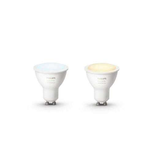 PHILIPS HUE W.AMBIANCE LED reflektor PAR16 5.5W GU10 2200-6500K Dim 25Y set-2ks