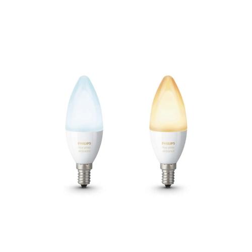 PHILIPS HUE W.AMBIANCE LED žárovka B39 6W E14 2200-6500K 470lm Dim 25Y set-2ks