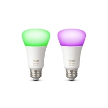 PHILIPS HUE W&C.AMBIANCE LED žárovka  A60 10W/60W RGB 806lm Dim 25Y set-2ks
