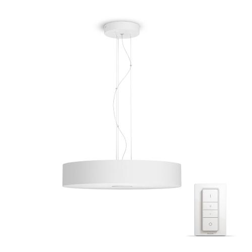 PHILIPS HUE závěsné svítidlo LED FAIR 1x39W; bílá + HUE přepínač (40339/31/P7)