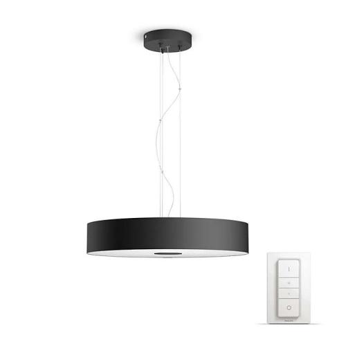 PHILIPS HUE závěsné svítidlo LED FAIR 1x39W; černá + HUE přepínač (40339/30/P7)