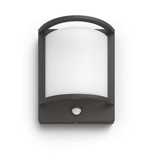 PHILIPS venkovní LED svítidlo Samondra se senzorem; antracit (17392/93/P0)
