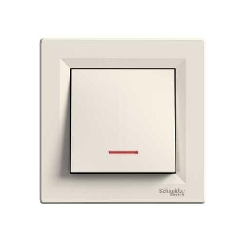 Schneider ASFORA ovladač tlačítkový A/0So CREAM; EPH1600323