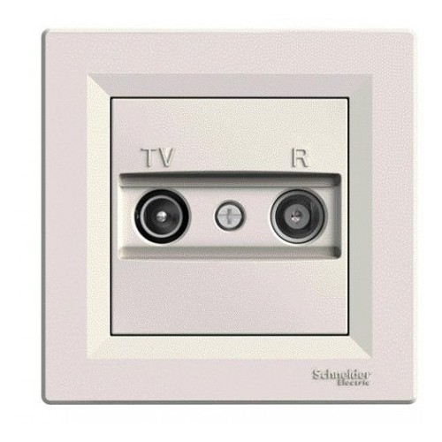 Schneider ASFORA zásuv. anténní TV-R průběžná CREAM; EPH3300223