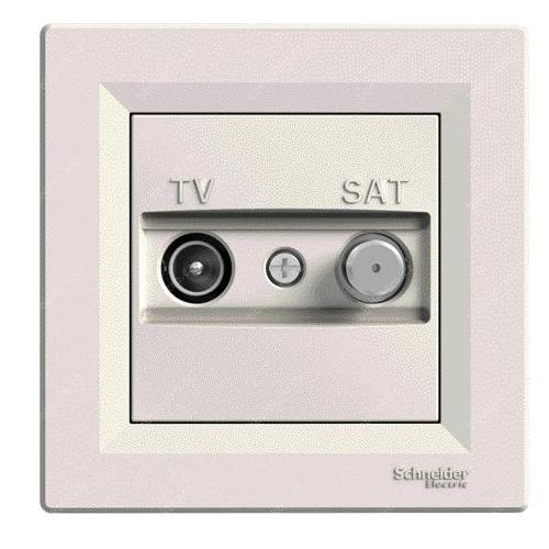 Schneider ASFORA zásuv. anténní  TV/SAT koncová CREAM; EPH3400123