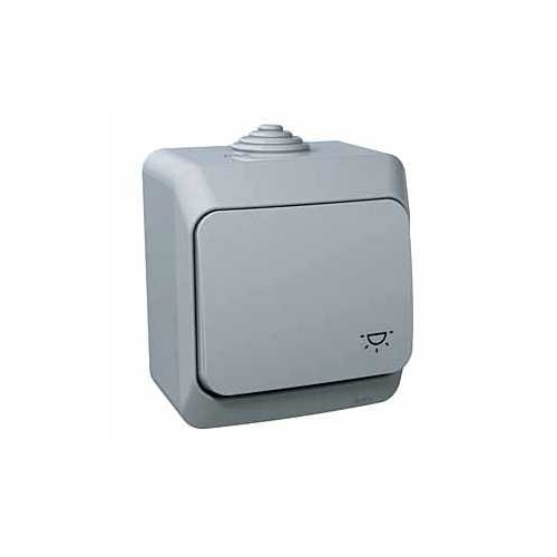 Schneider CEDARplus ovladač.tlač. č.1/0 IP44 sym.světlo ; WDE000613