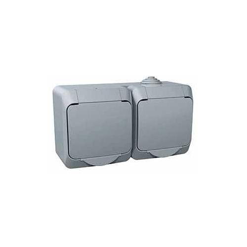 Schneider CEDARplus zásuv.dvojnasobna 2P+PE IP44; WDE000622
