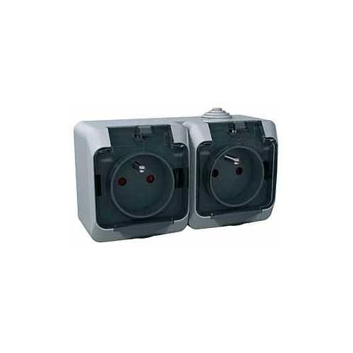 Schneider CEDARplus zásuv.dvojnasobna 2P+PE IP44; WDE000624
