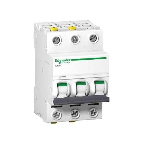 Schneider Electric jistič 3P 25A C 6kA; iC60N jistič třípólový