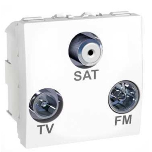 Schneider UNICA zásuv. anténní TV/R-SAT-F konek. POLAR; MGU345018