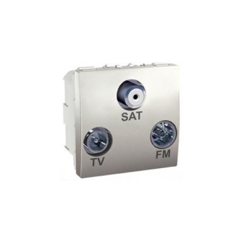 Schneider UNICA zásuv. anténní TV/R-SAT-F konektor ALU; MGU345030 (MGU3.450.30)