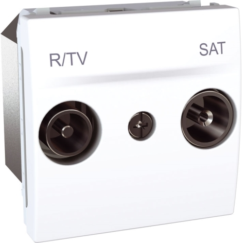 Schneider UNICA zásuv.anténní TV/R-SAT POLAR;  MGU345418 (MGU3.454.18) koncová