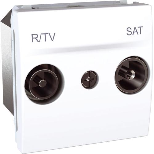 Schneider UNICA zásuv.anténní TV/R-SAT POLAR;  MGU345618 (MGU3.456.18) průchozí